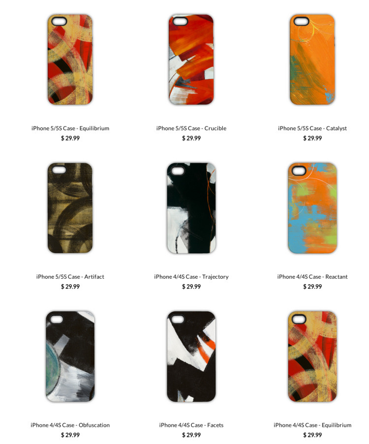 My paintings on phone/tablet cases