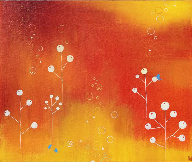"Migration 2, acrylic on canvas, 20"" x 24"""