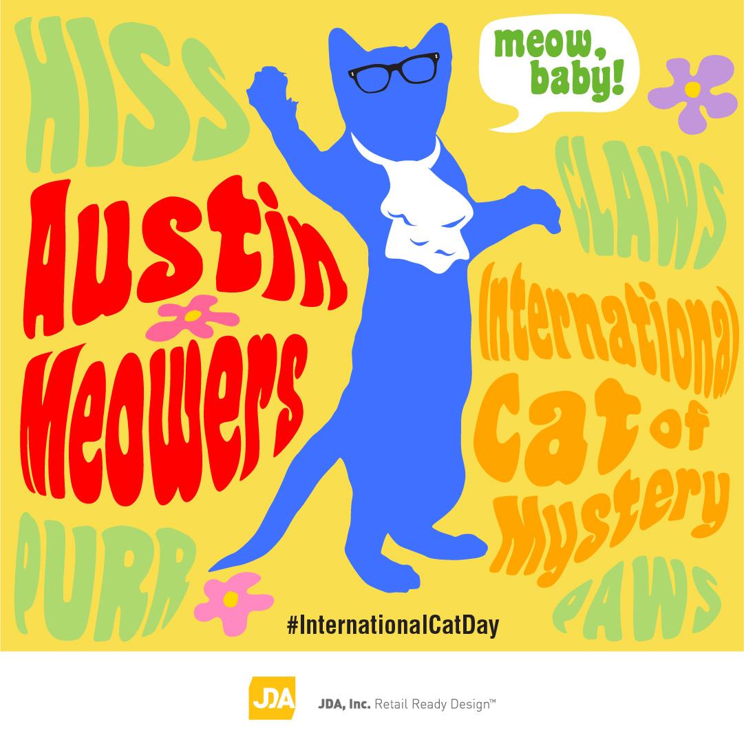 International Cat Day Social Media Graphic