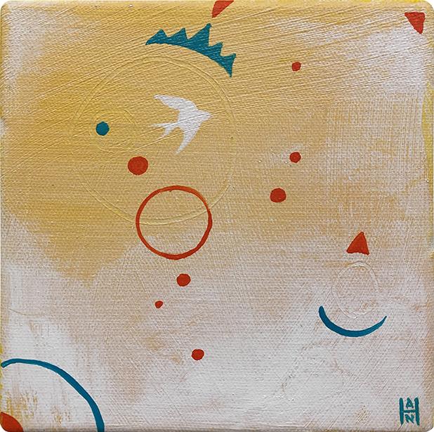 """The Return 1, acrylic on canvas, 6"""" x 6"""""""