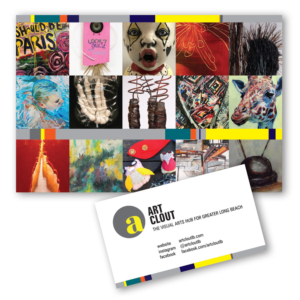 Art Clout Business Card and Postcard