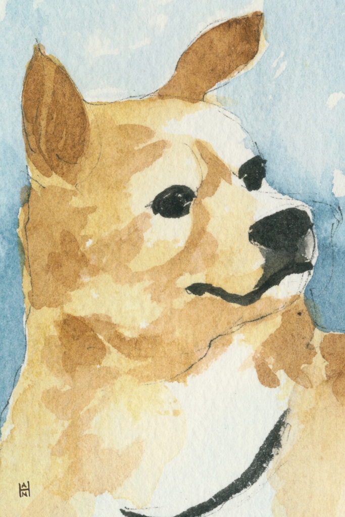 """Rescued-03, 2"""" x 3"""", Watercolor on paper"""