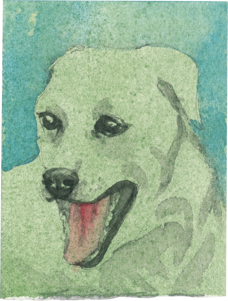 """Rescued-28, 2"""" x 3"""", Watercolor on paper"""