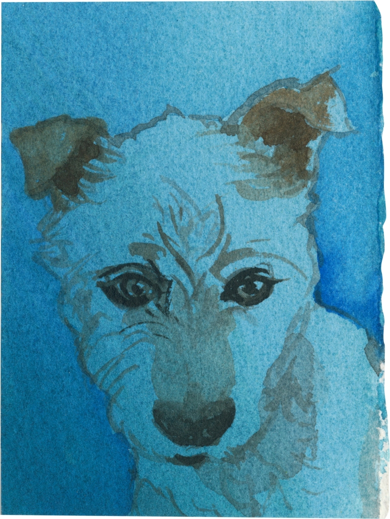 """Rescued-31, 2"""" x 3"""", Watercolor on paper"""