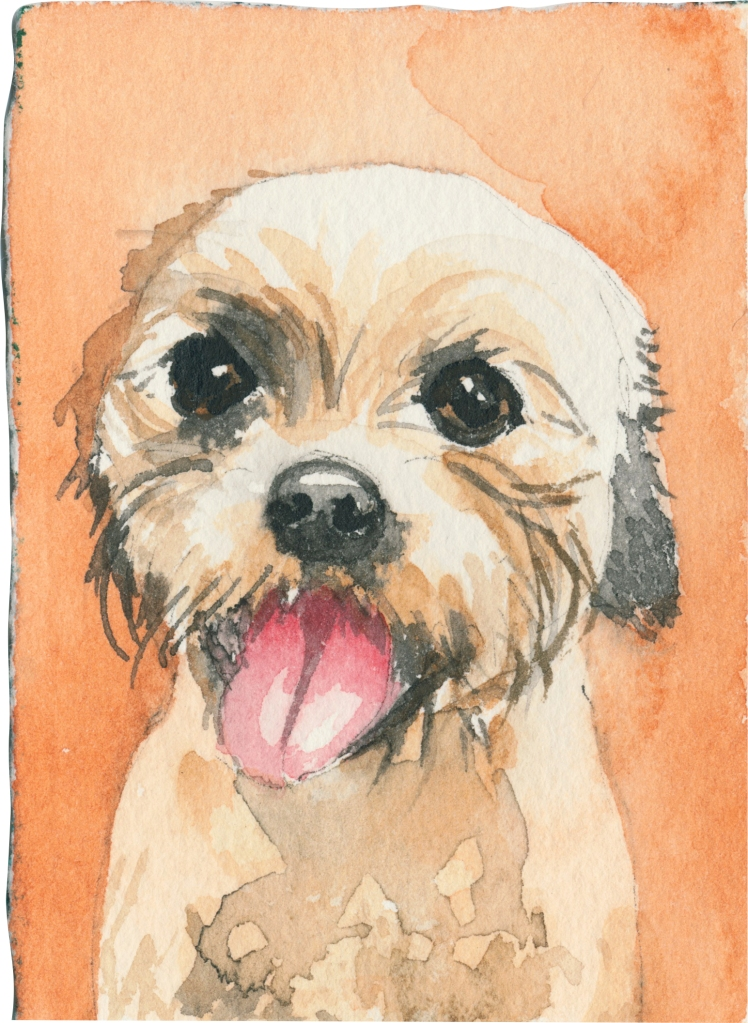 """Rescued-66, 2"""" x 3"""", Watercolor on paper"""