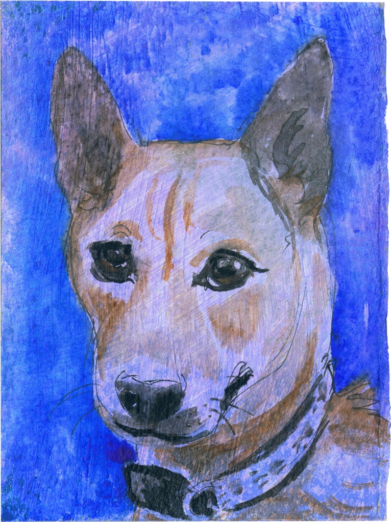 """Rescued-68, 2"""" x 3"""", Watercolor on paper"""