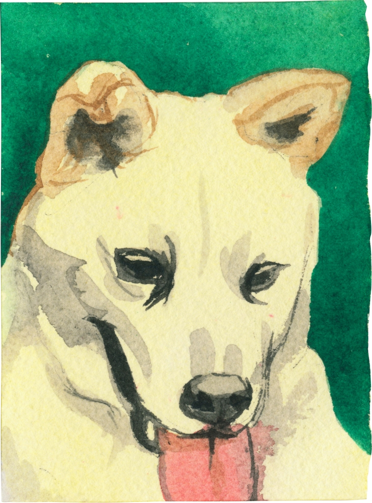 """Rescued-81, 2"""" x 3"""", Watercolor on paper"""
