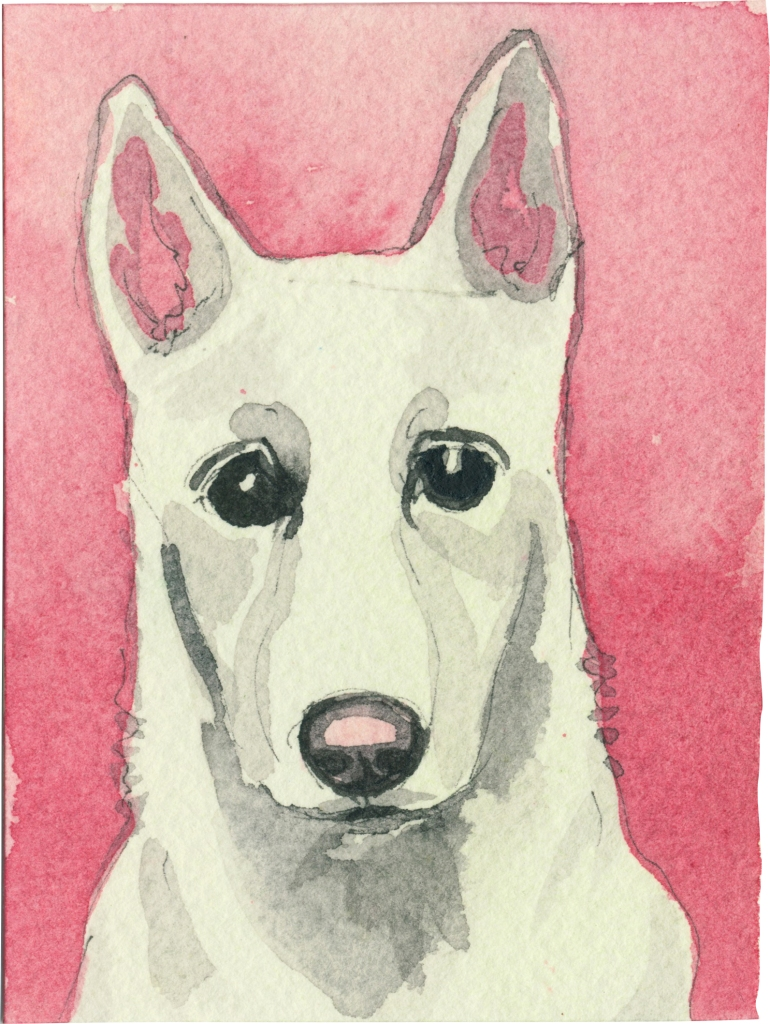 """Rescued-85, 2"""" x 3"""", Watercolor on paper"""
