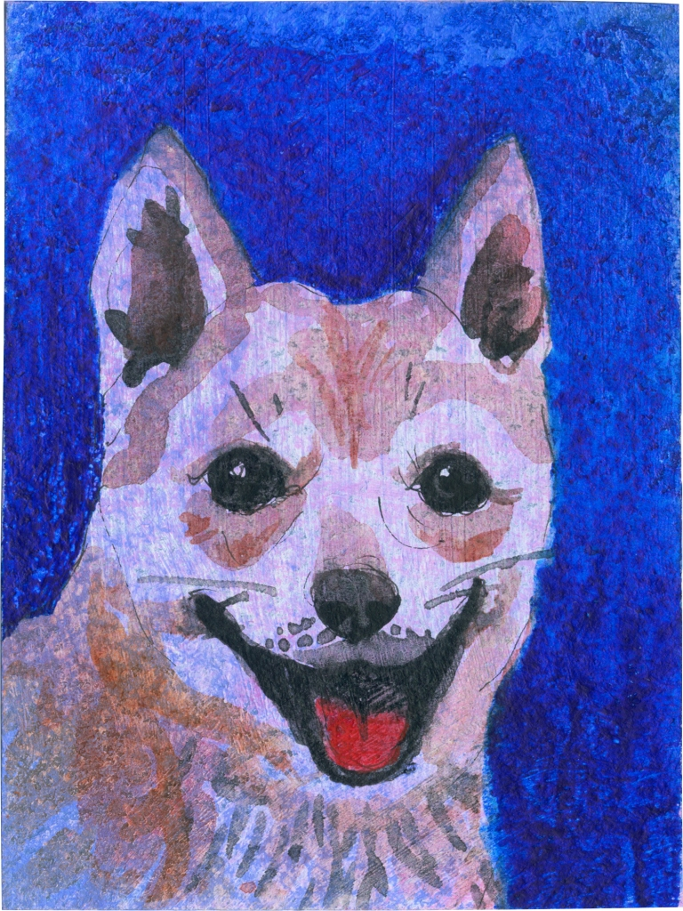 """Rescued-93, 2"""" x 3"""", Watercolor on paper"""