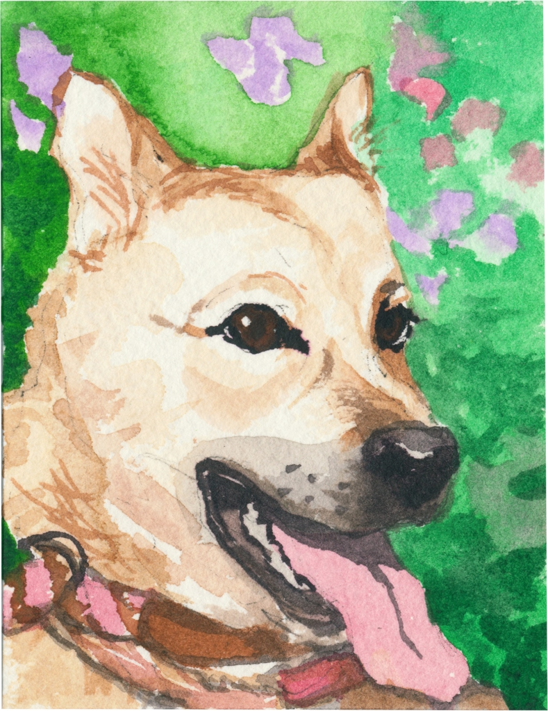 """Rescued-99, 2"""" x 3"""", Watercolor on paper"""
