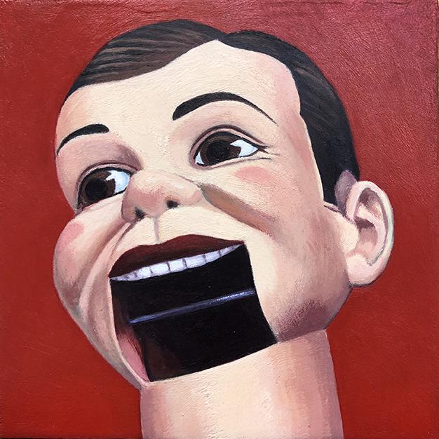 Dummy, 6 x 6, acrylic on wood panel