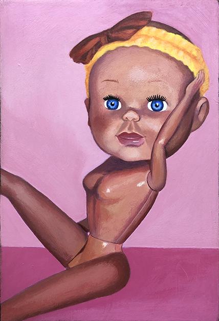 Pretty Baby, 6 x 9, acrylic on wood panel