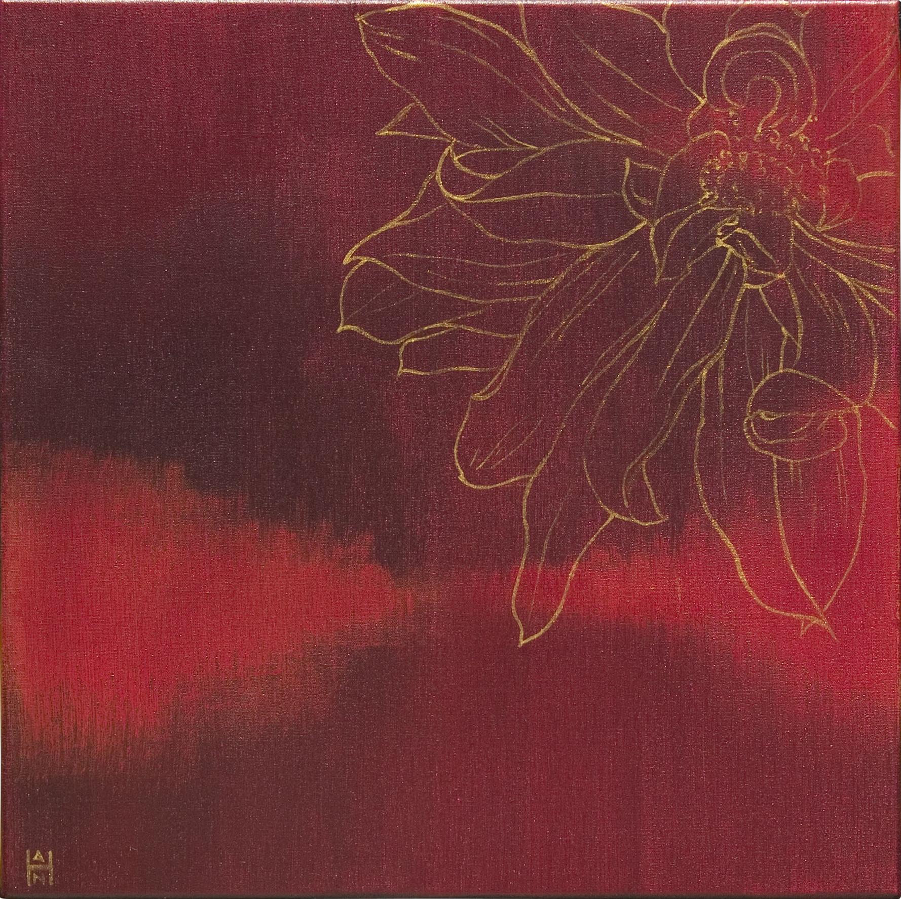 "Solaris 1, acrylic on canvas, 14"" x 14"", $350"