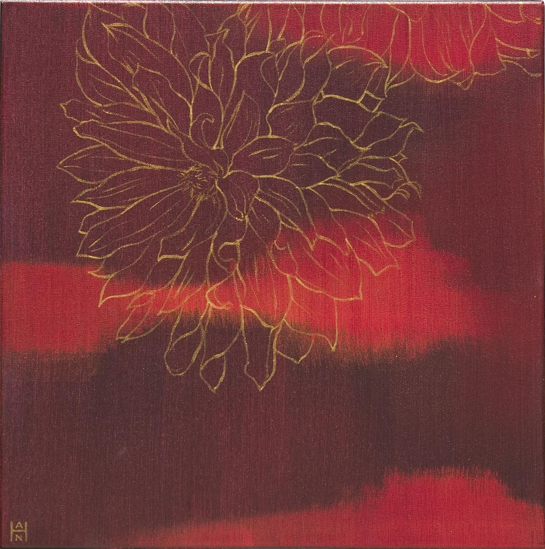"Solaris 2, acrylic on canvas, 14"" x 14"", $350"