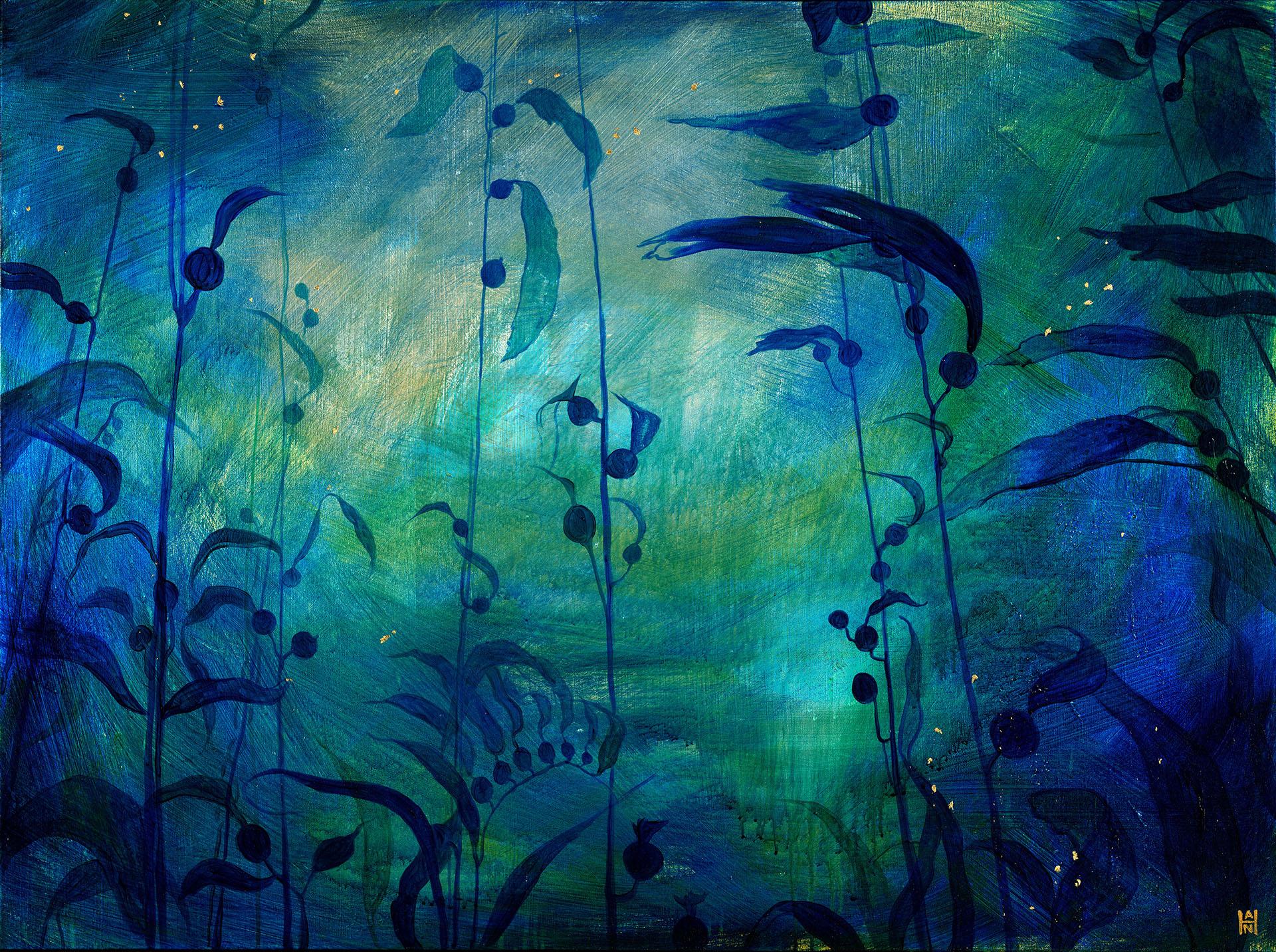 """A Forest, acrylic on canvas, 36"""" x 48"""", $1200"""